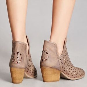 Anthropologie Musse and Cloud Laser Cut Booties-9